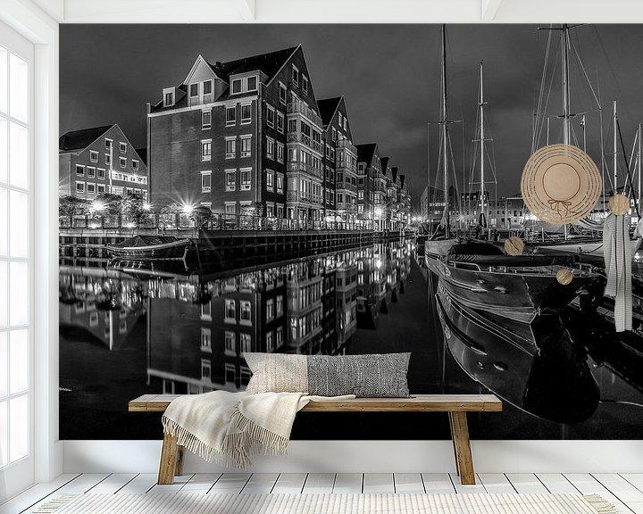 Sfeerimpressie behang: Hoorn Jachthaven van Mario Calma