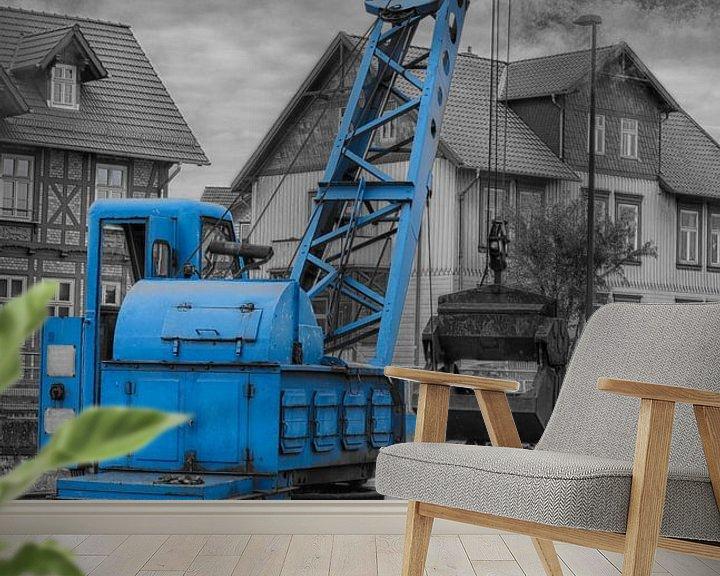 Sfeerimpressie behang: crane for coal loading steam locomotive van Compuinfoto .