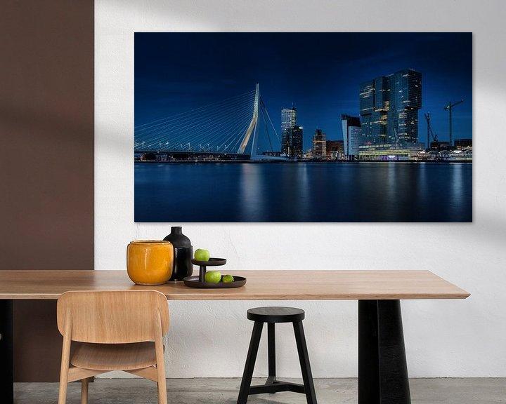 Sfeerimpressie: Nachtfoto Rotterdamse Skyline van Paul Kampman