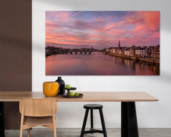 Sfeerimpressie: Zonsondergang Maastricht van Bert Beckers