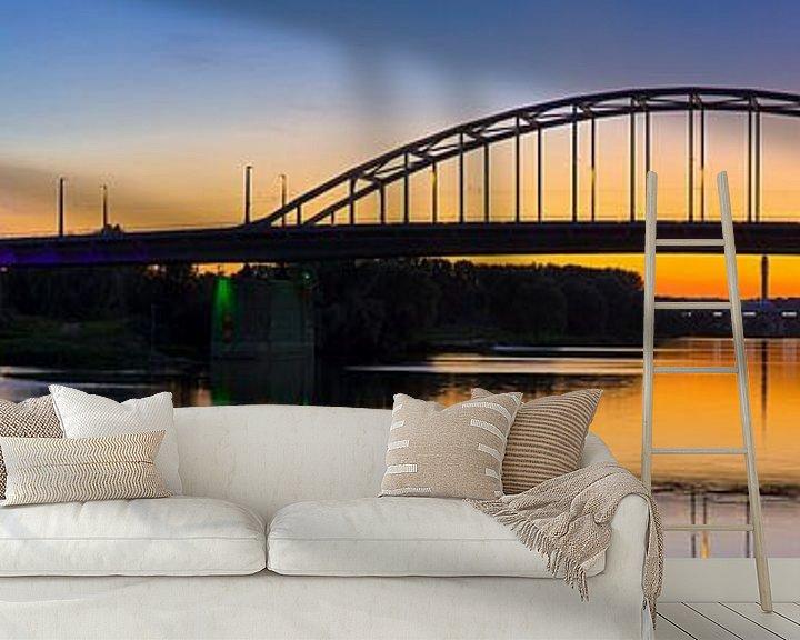 Impression: Panorama John Frostbrug juste après le coucher du soleil à Arnhem sur Anton de Zeeuw