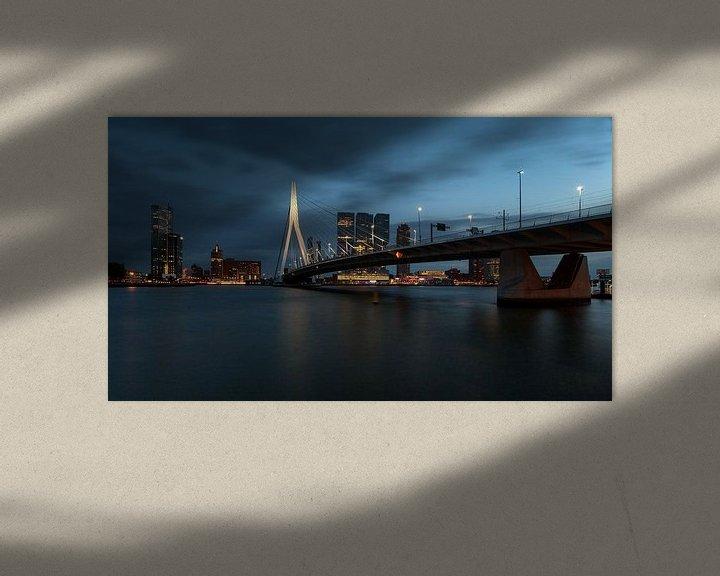Sfeerimpressie: Nachtfoto van de Kop van Zuid Rotterdam van Paul Kampman
