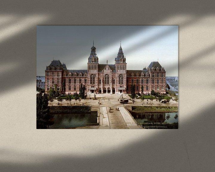 Sfeerimpressie: Rijksmuseum Amsterdam - vintage foto gezien vanaf de Stadhouderskade van Roger VDB