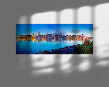 Panorama Kampen in de nacht