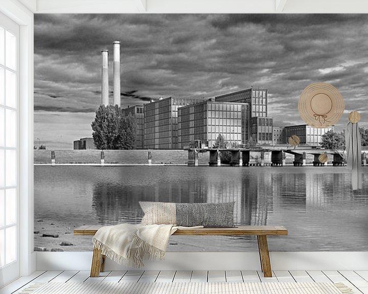Beispiel fototapete: Panorama IJsselcentrale Zwolle von Anton de Zeeuw