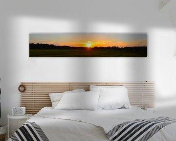 Panorama zonsondergang van Saskia Veenstra