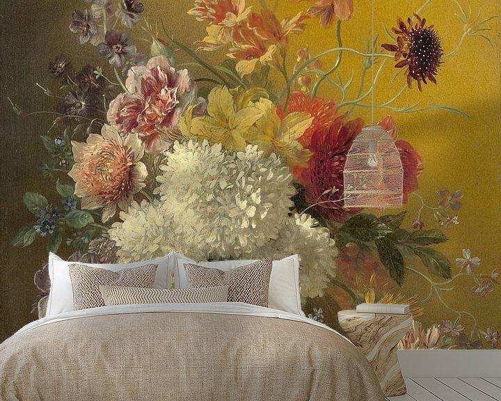 Beispiel fototapete: Stillleben mit Blumen in einem Vase