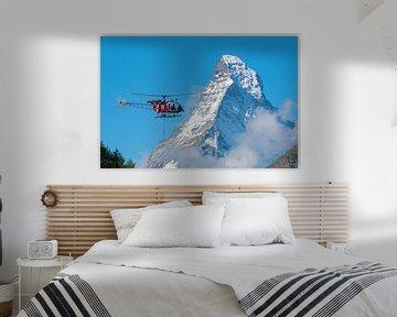 Rettungshubschrauber Lama und Matterhorn von Menno Boermans