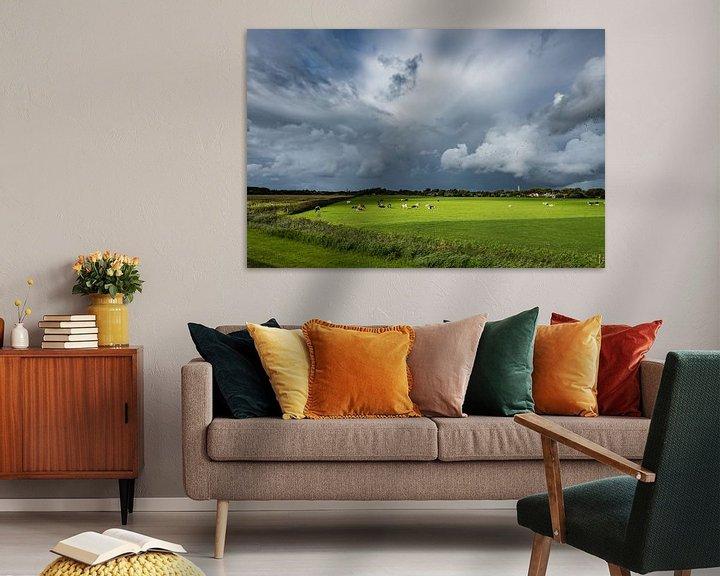 Beispiel: Ein Regensturm über Schiermonnikoog von John Verbruggen