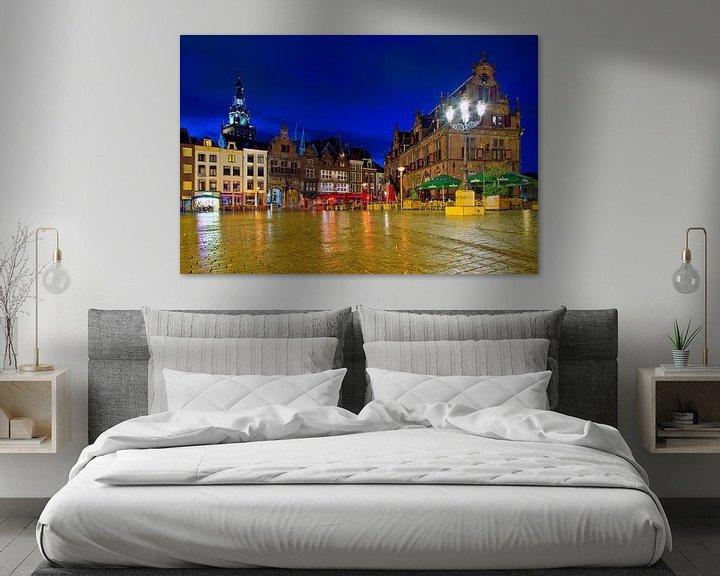 Sfeerimpressie: Nachtfoto Markt Nijmegen van Anton de Zeeuw