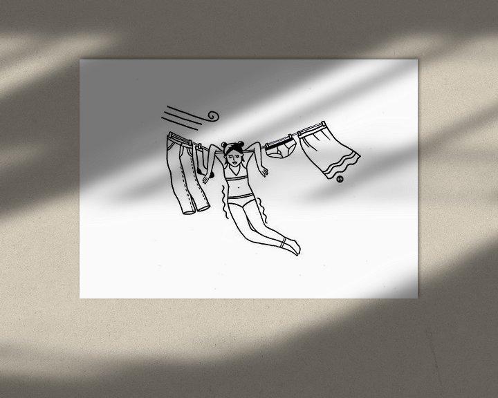 Sfeerimpressie: Meisje aan de waslijn van Lola Vogels