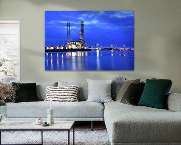 Blue hour mood van Henk de Boer