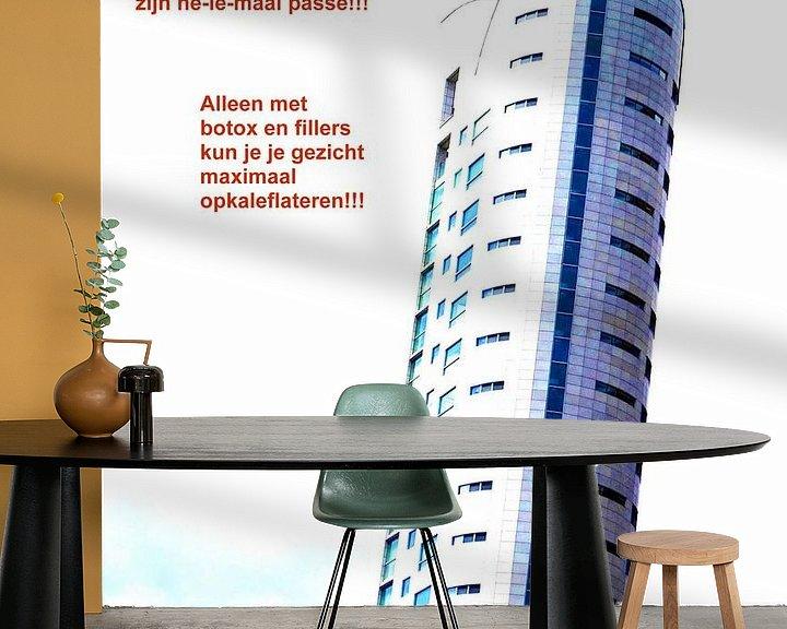 Sfeerimpressie behang: Small Talk: Maximaal Opkaleflateren! van MoArt (Maurice Heuts)