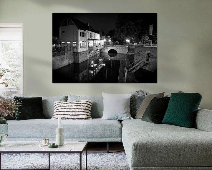 Impression: Les Diezehuys sur la Vieille Dieze Den Bosch en noir et blanc sur Jasper van de Gein Photography