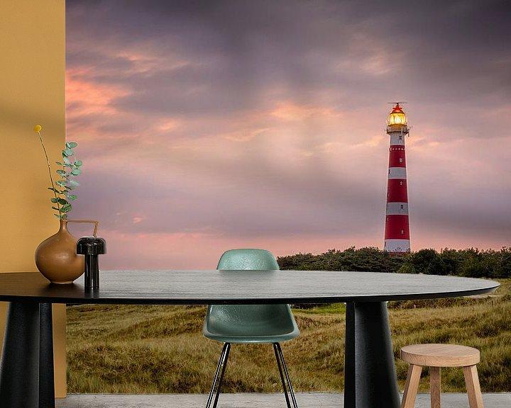 Sfeerimpressie behang: Ameland Sunrise van Jan Hoekstra