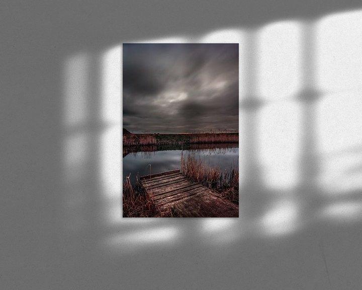 Sfeerimpressie: lange sluitertijd van een stijger van Rubin Versigny