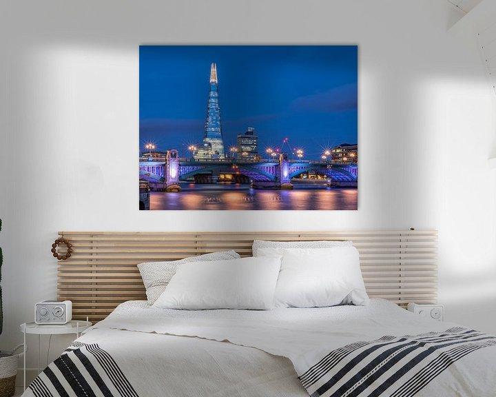 Sfeerimpressie: London blues   The Shard   Southwark Bridge van Rob de Voogd / zzapback