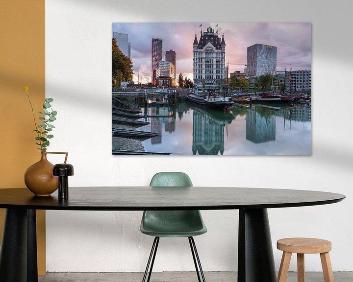 Sfeerimpressie: Zonsondergang Oude Haven Rotterdam van Ilya Korzelius