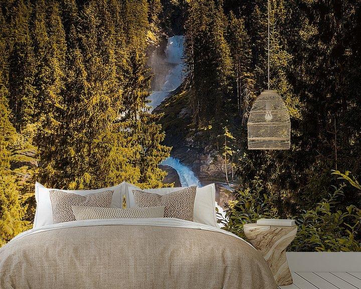 Sfeerimpressie behang: Waterval in het bos van Stedom Fotografie