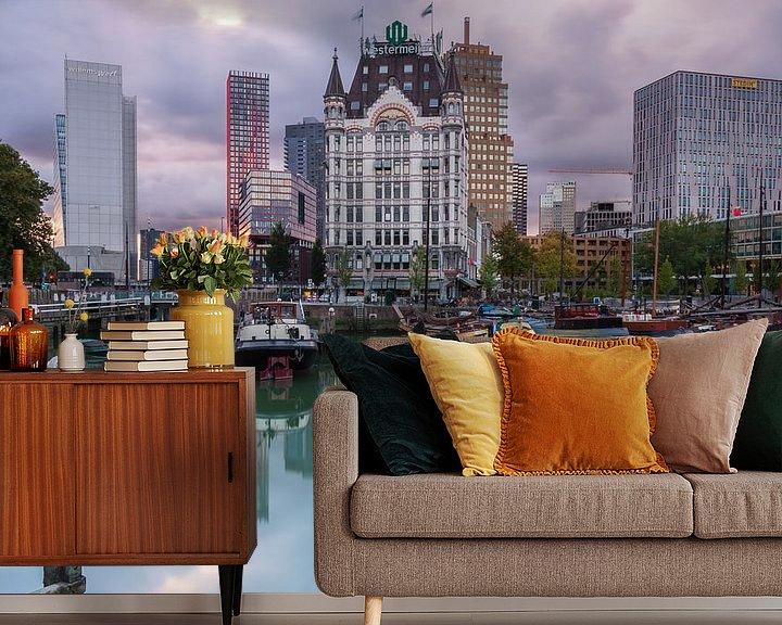 Sfeerimpressie behang: Oude Haven Rotterdam van Ilya Korzelius