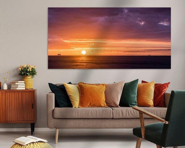 Sfeerimpressie: Zonsondergang, Schiermonnikoog van John Verbruggen