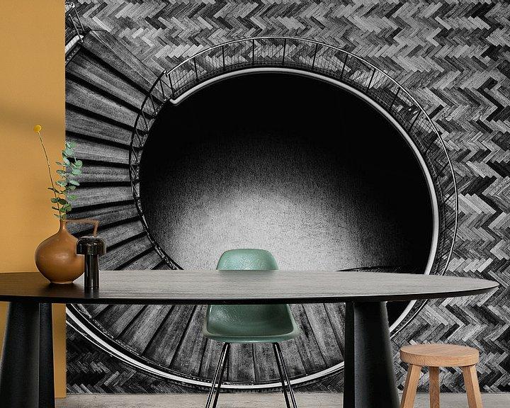 Sfeerimpressie behang: Trap in Aarhus van Maerten Prins