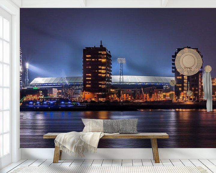 Sfeerimpressie behang: De Kuip / Het Feyenoord stadion van Evert Buitendijk
