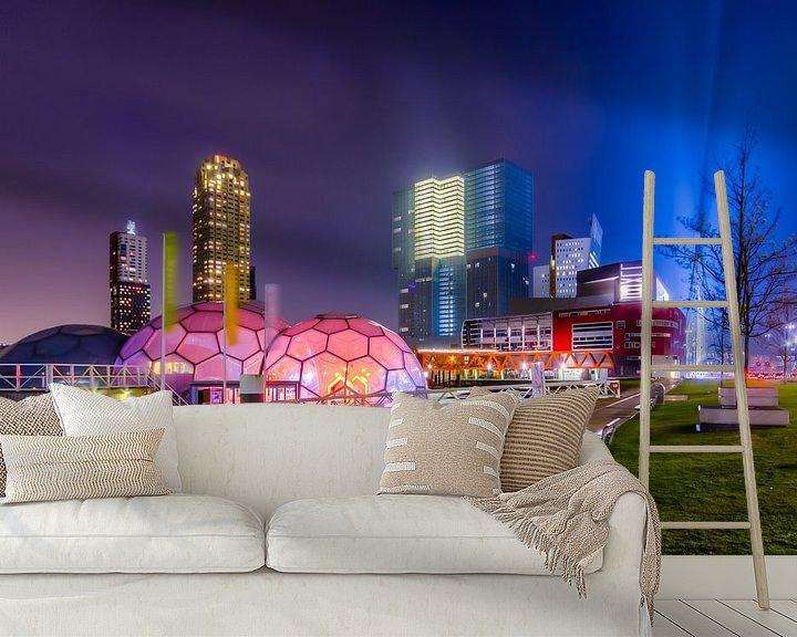 Sfeerimpressie behang: Het Drijvend Paviljoen Rotterdam Rijnhaven van Evert Buitendijk