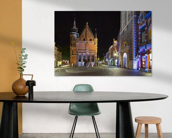 Sfeerimpressie: Het oude stadhuis van Kampen van Anton de Zeeuw