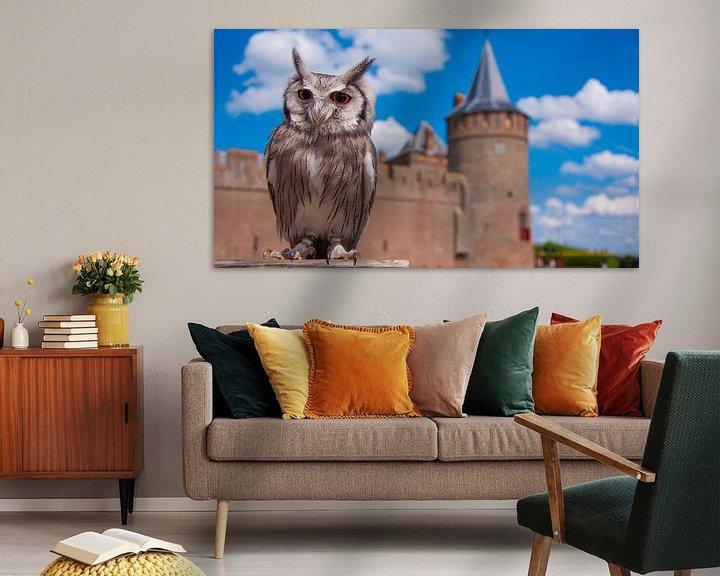 Sfeerimpressie: Uil bij kasteel muiderslot van Mark Verhagen