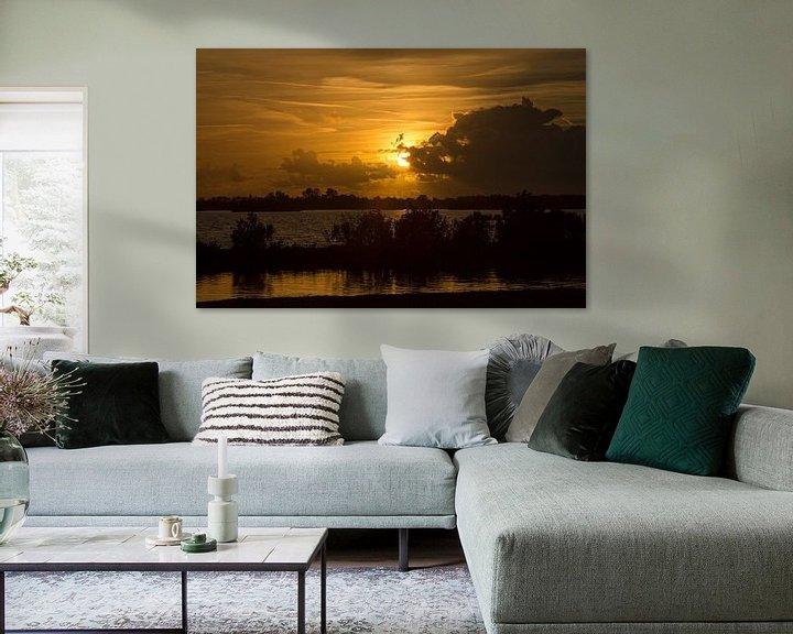 Sfeerimpressie: Ondergaande zon van Koos Lanting