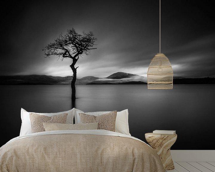 Beispiel fototapete: The Lonely Tree in BNW von Valerie Leroy Photography