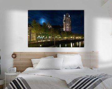 Grote Kerk Dordrecht im Mondschein