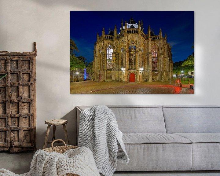Sfeerimpressie: Achterkant Grote Kerk Dordrecht van Anton de Zeeuw