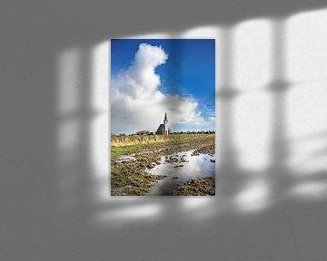Witte kerkje van Den Hoorn op Texel van Fotografiecor .nl