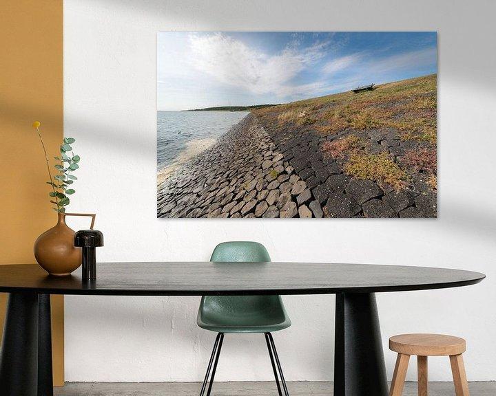 Sfeerimpressie: Waddendijk op het Waddeneiland Vlieland van Tonko Oosterink