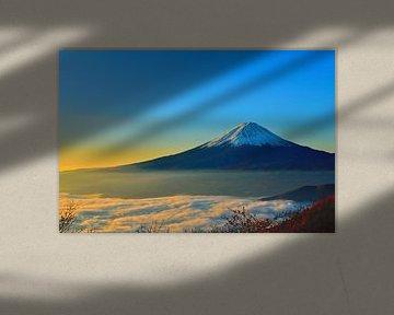 Japan - Mount Fuji bij zonsopgang van Roger VDB