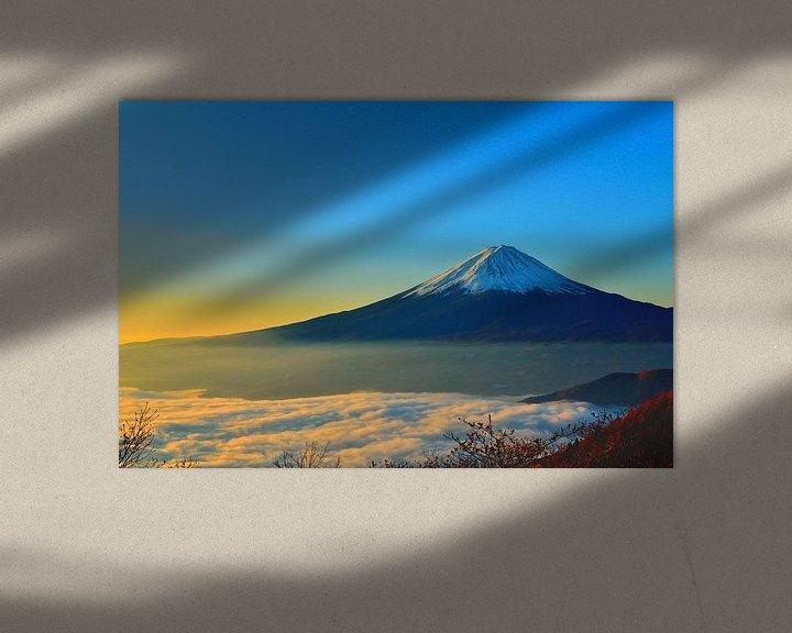 Sfeerimpressie: Japan - Mount Fuji bij zonsopgang van Roger VDB