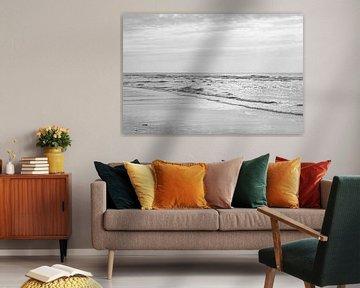 Zwart Wit Strand von Ronald van Kooten