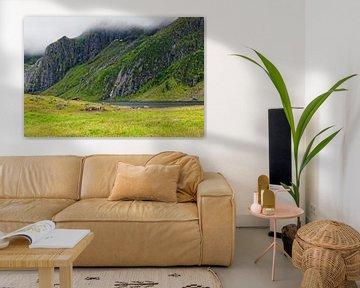 North Norwegian Landscape van Gisela Scheffbuch
