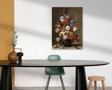 Nature morte avec des fleurs dans un vase de verre, Balthasar van der Ast sur Roger VDB