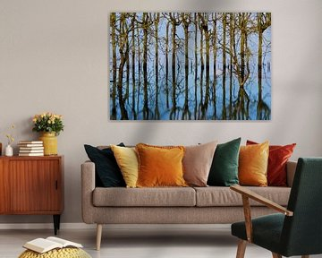 Weerspiegeling van bomen van Irene Damminga