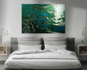 Zee in groen en blauw