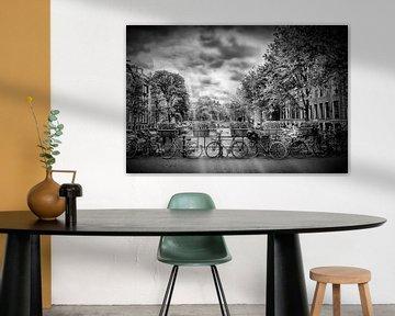 AMSTERDAM Herengracht | Typische Stadtansicht in Monochrom