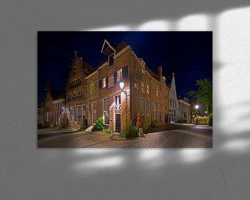 Bâtiments médiévaux de Deventer la nuit