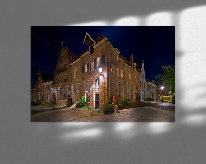 Beispiel: Mittelalterliche Gebäude in Deventer bei Nacht von Anton de Zeeuw