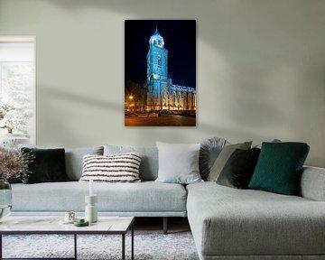 Lebuïnuskerk in de nacht te Deventer
