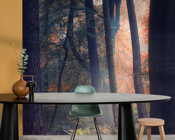 Sfeerimpressie behang: Transitions 3/3 (Herfst impressie) van Remco Lefers