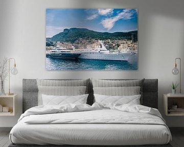 Luxe boten in de haven van Monaco van Fotografiecor .nl