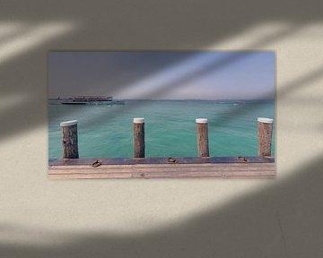 Veerdienst over het Gardameer in Italië van Fotografiecor .nl